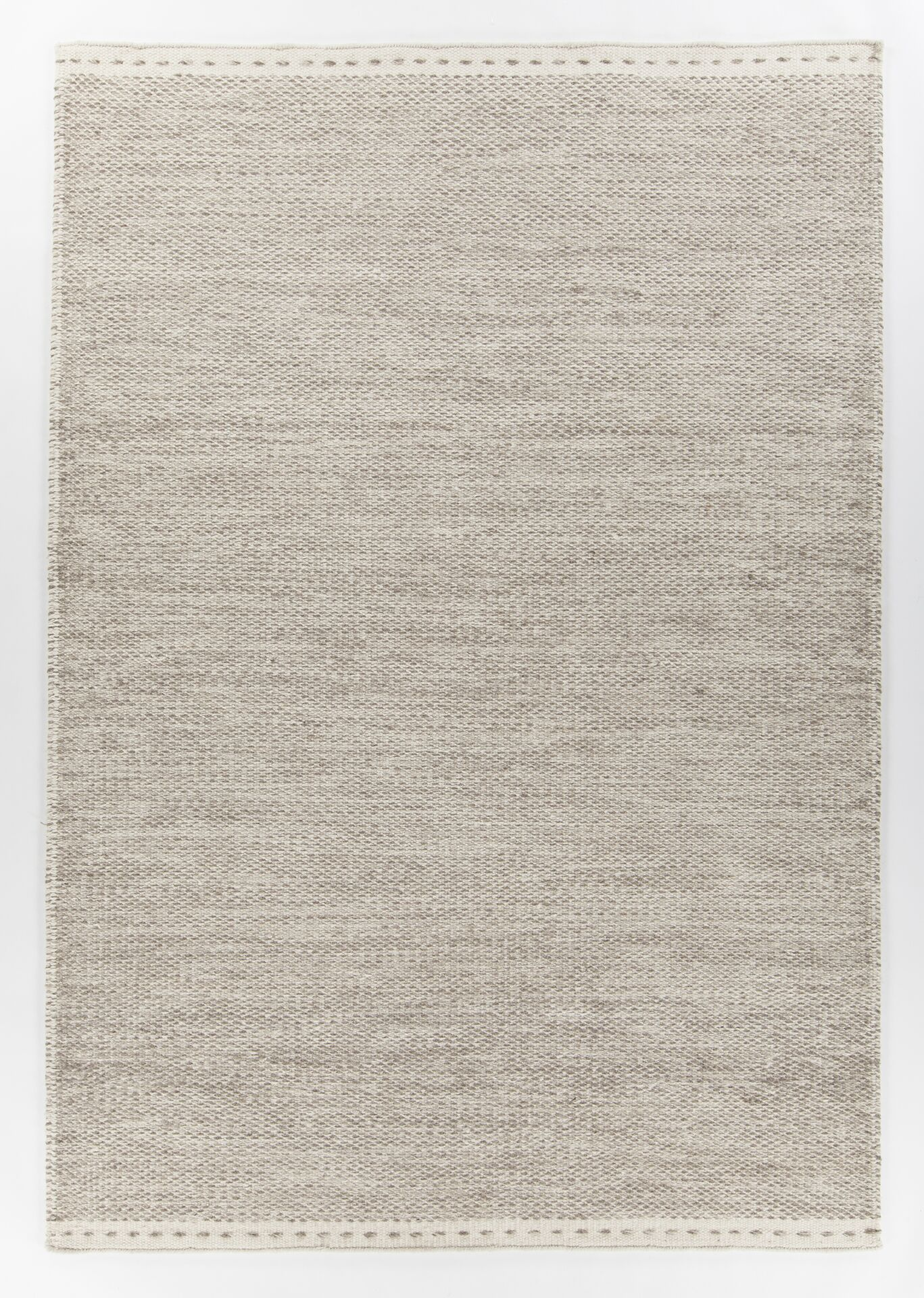 Speaks Hand-Woven Gray/White Area Rug Rug Size: 5' x 7'6