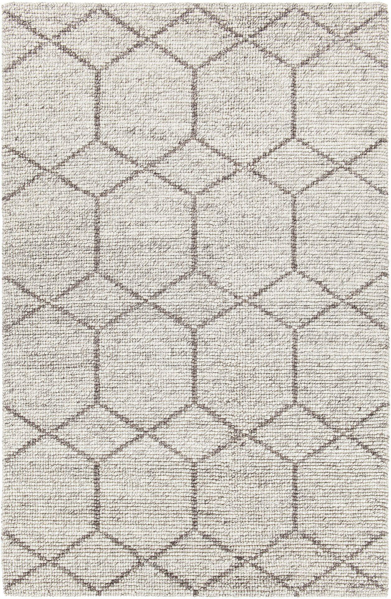 Saltzman Hand-Woven Silver Area Rug Rug Size: 7'9