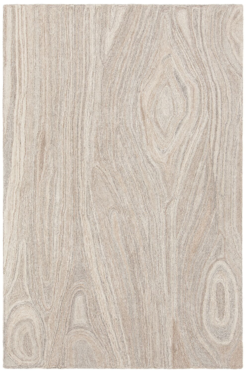 Alhambra Hand-Tufted Tan/Gray Area Rug Rug Size: 7'9