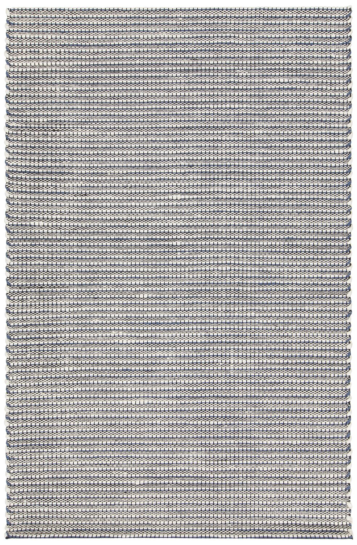 Werner Hand-Woven Blue/Black Area Rug Rug Size: 7'9