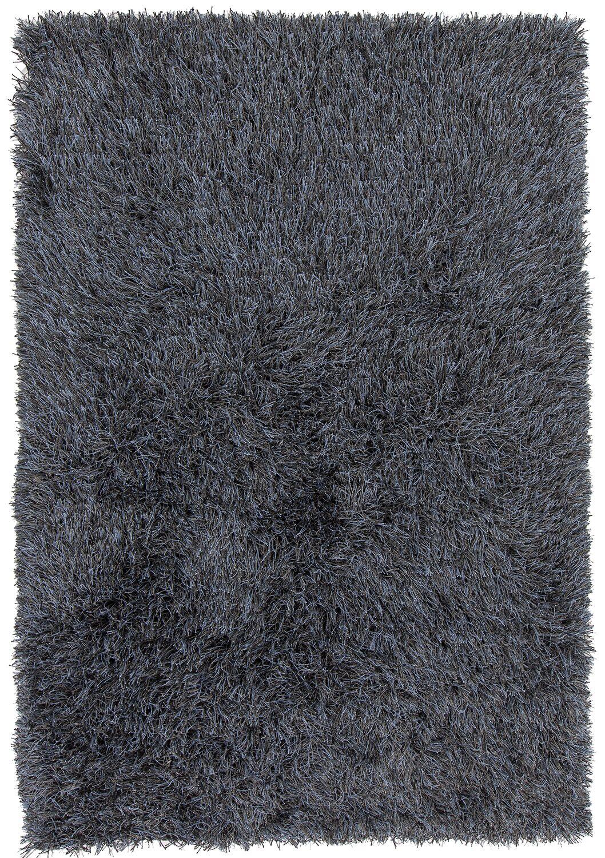 Boomer Hand-Woven Black Area Rug Rug Size: 9' x 13'