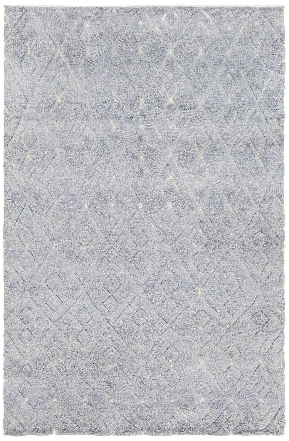 Alland Hand-Knotted Blue Area Rug Rug Size: 7'9
