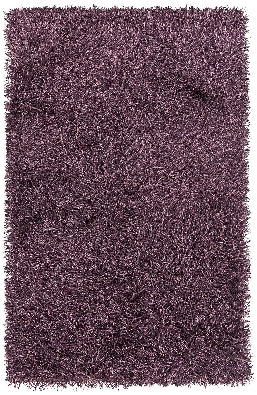 Faust Hand-Woven Purple Area Rug Rug Size: 7'9