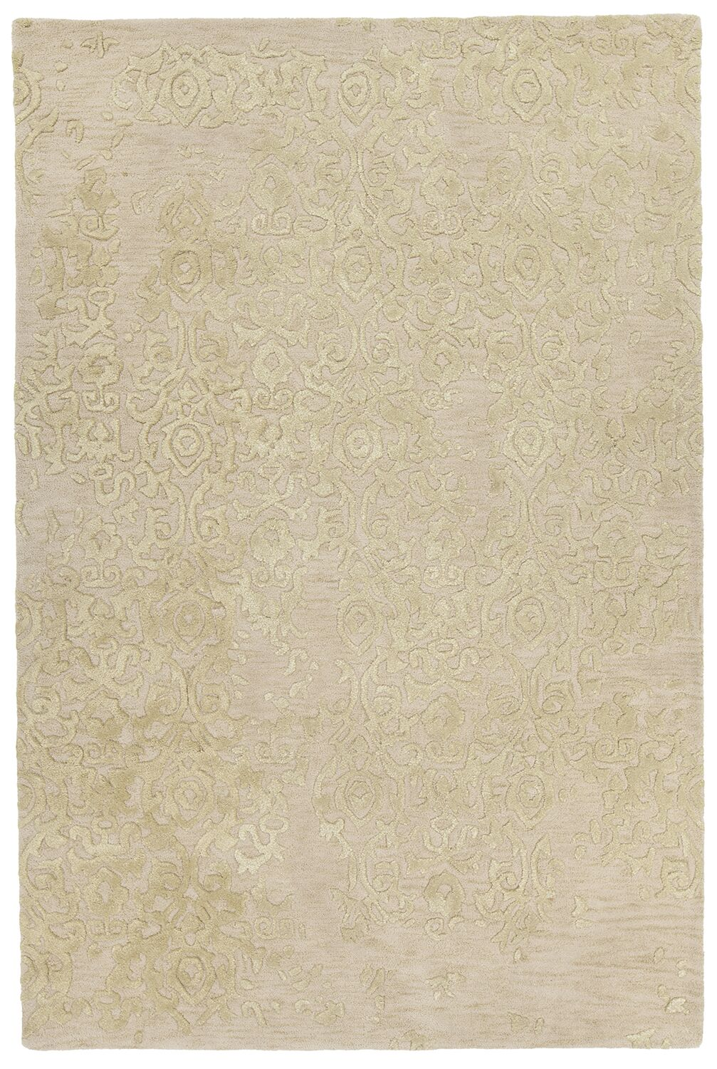 Boothby Hand-Tufted Ivory/Yellow Area Rug Rug Size: 7'9