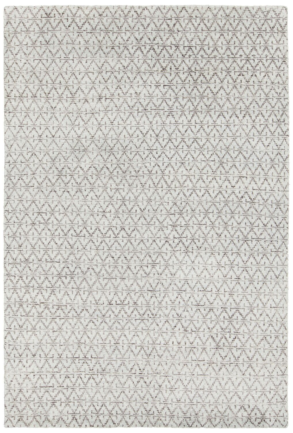 Denwood Hand-Knotted Gray/Blue Area Rug Rug Size: 5' x 7'6
