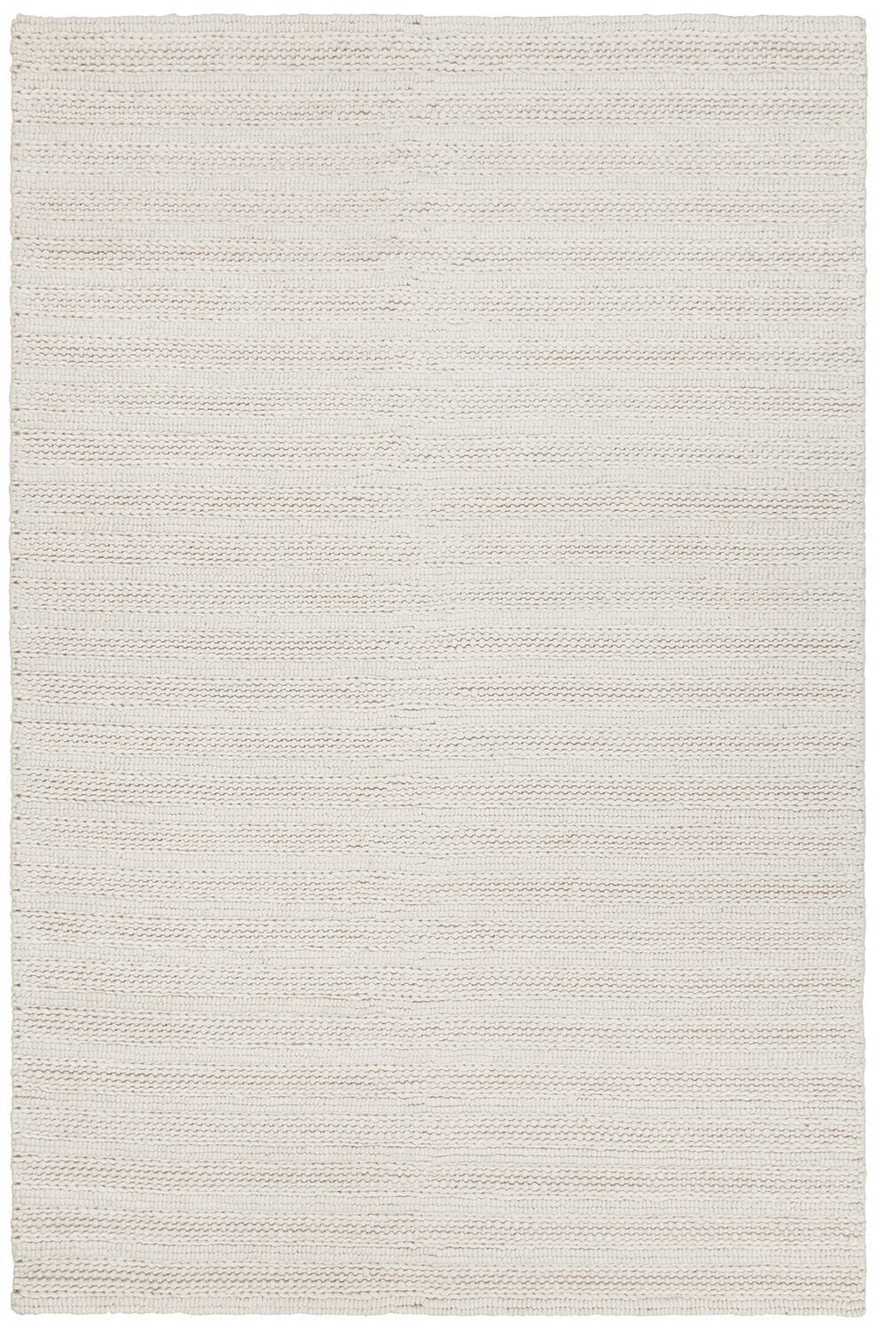 Kite Hand-Woven White Area Rug Rug Size: 5' x 7'6
