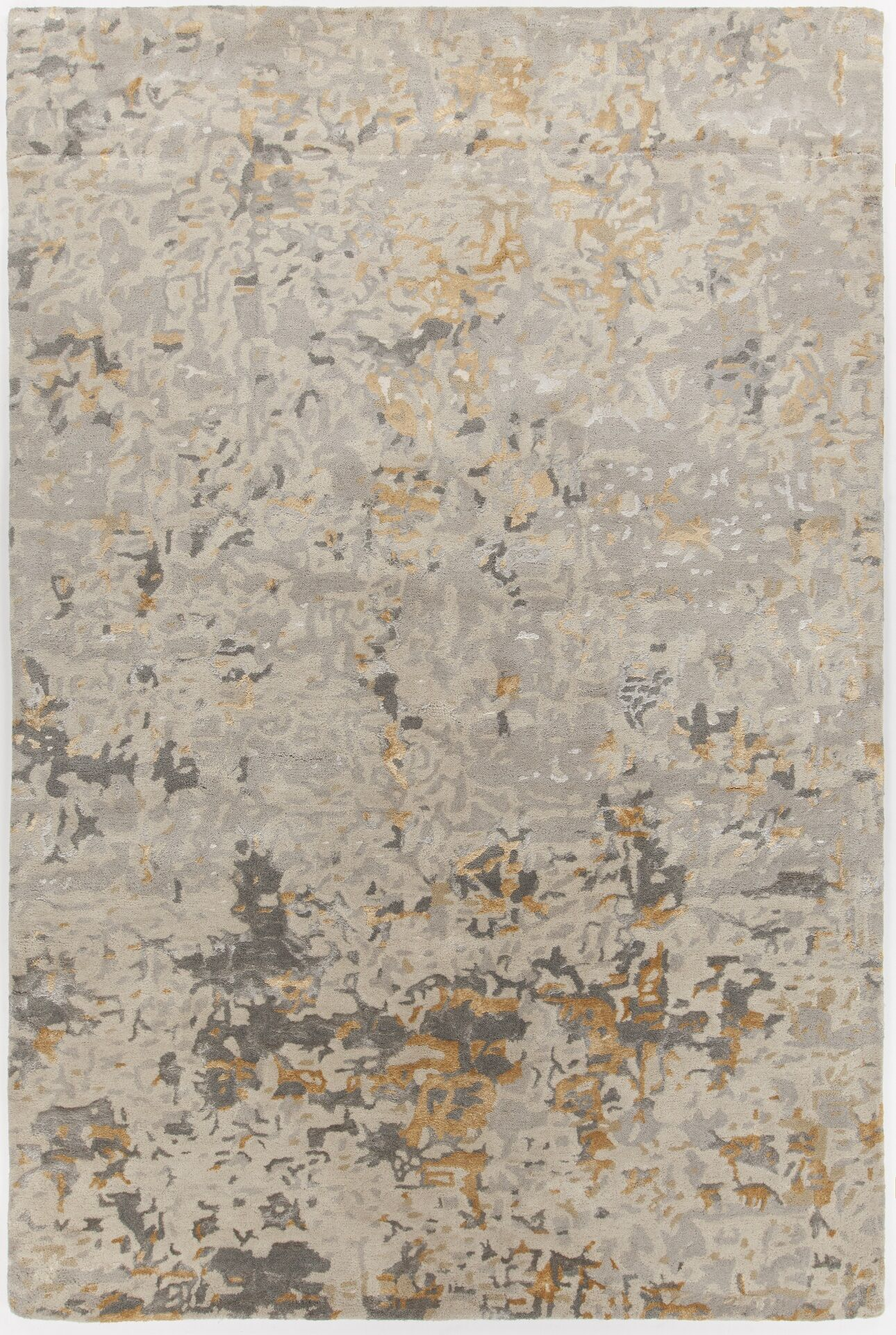 Powell Hand-Tufted Beige Area Rug Rug Size: Rectangle 9' x 13'