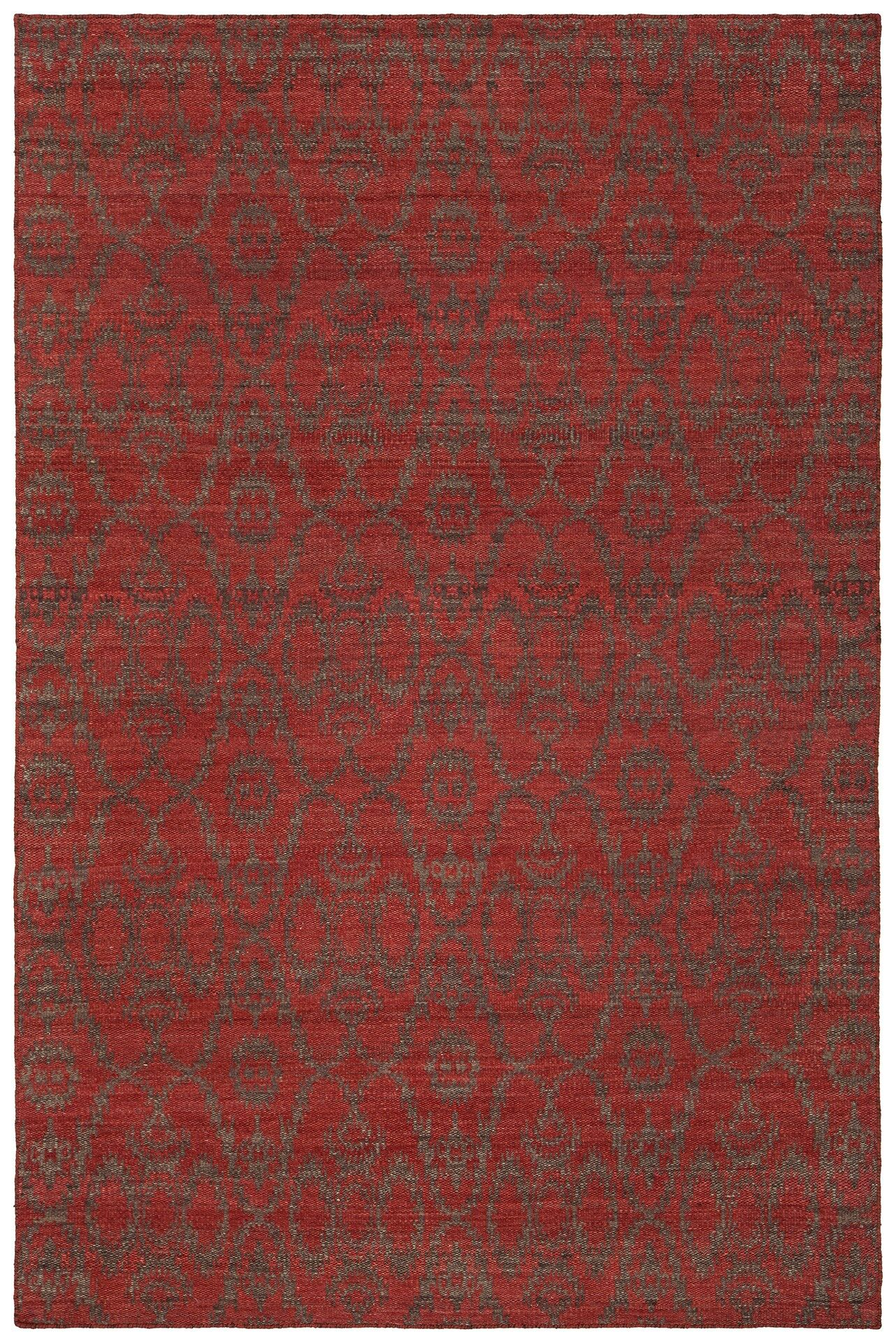 Daria Hand-Woven Wool Red Area Rug Rug Size: Rectangle 5' x 7'6
