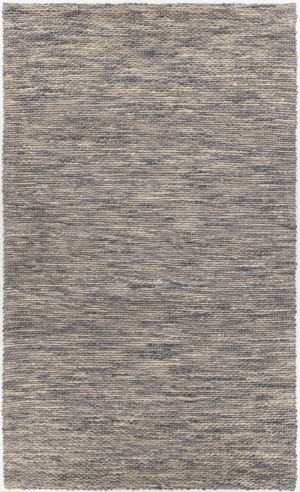 Camacho Hand-Woven Gray/Black Area Rug Rug Size: Rectangle 5' x 7'6