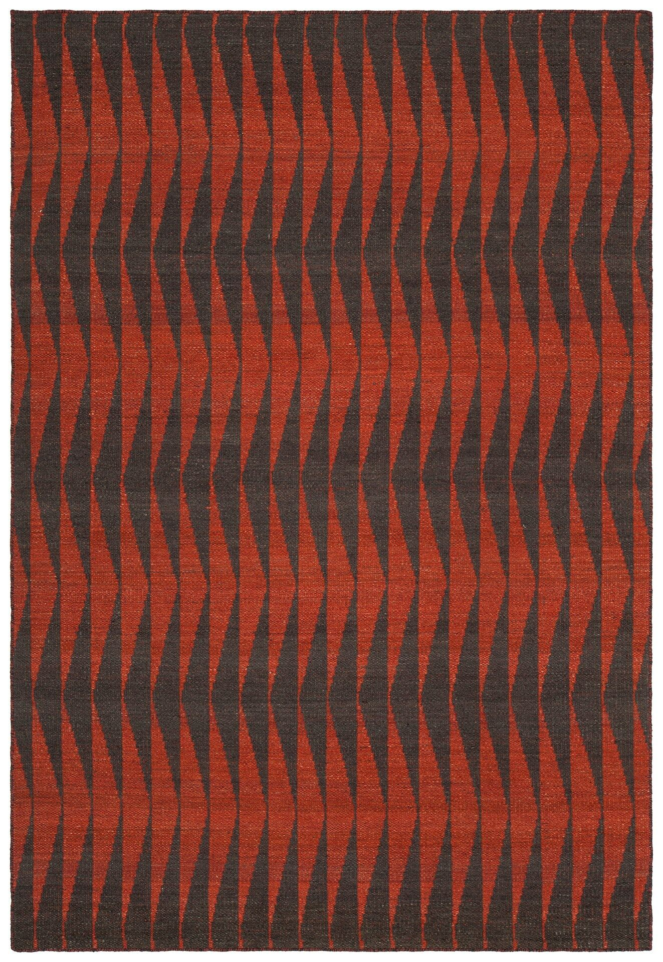 Reagan Hand-Woven Wool Red Area Rug Rug Size: Rectangle 5' x 7'6