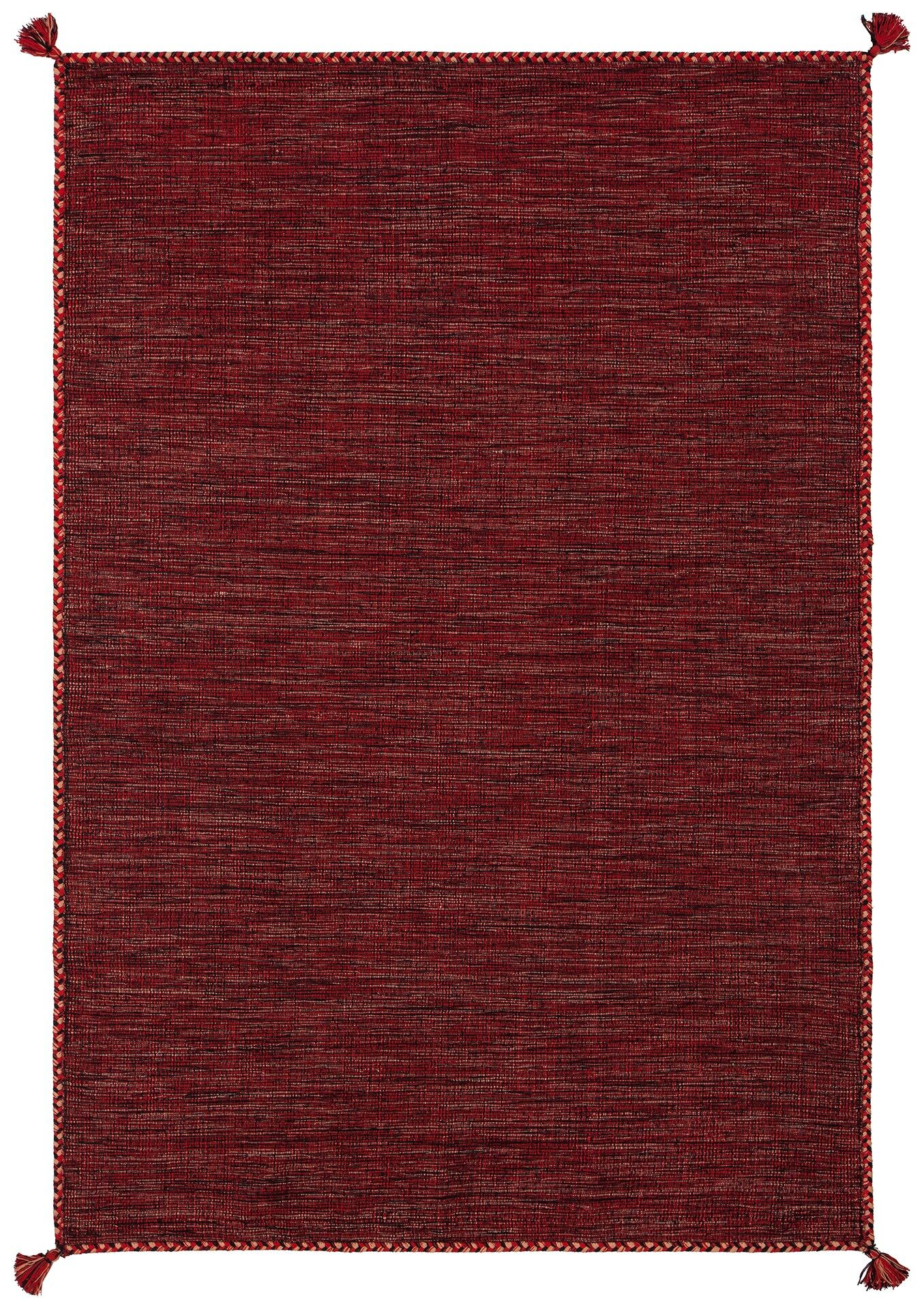 Dario Hand-Woven Red Area Rug Rug Size: Rectangle 5' x 7'6