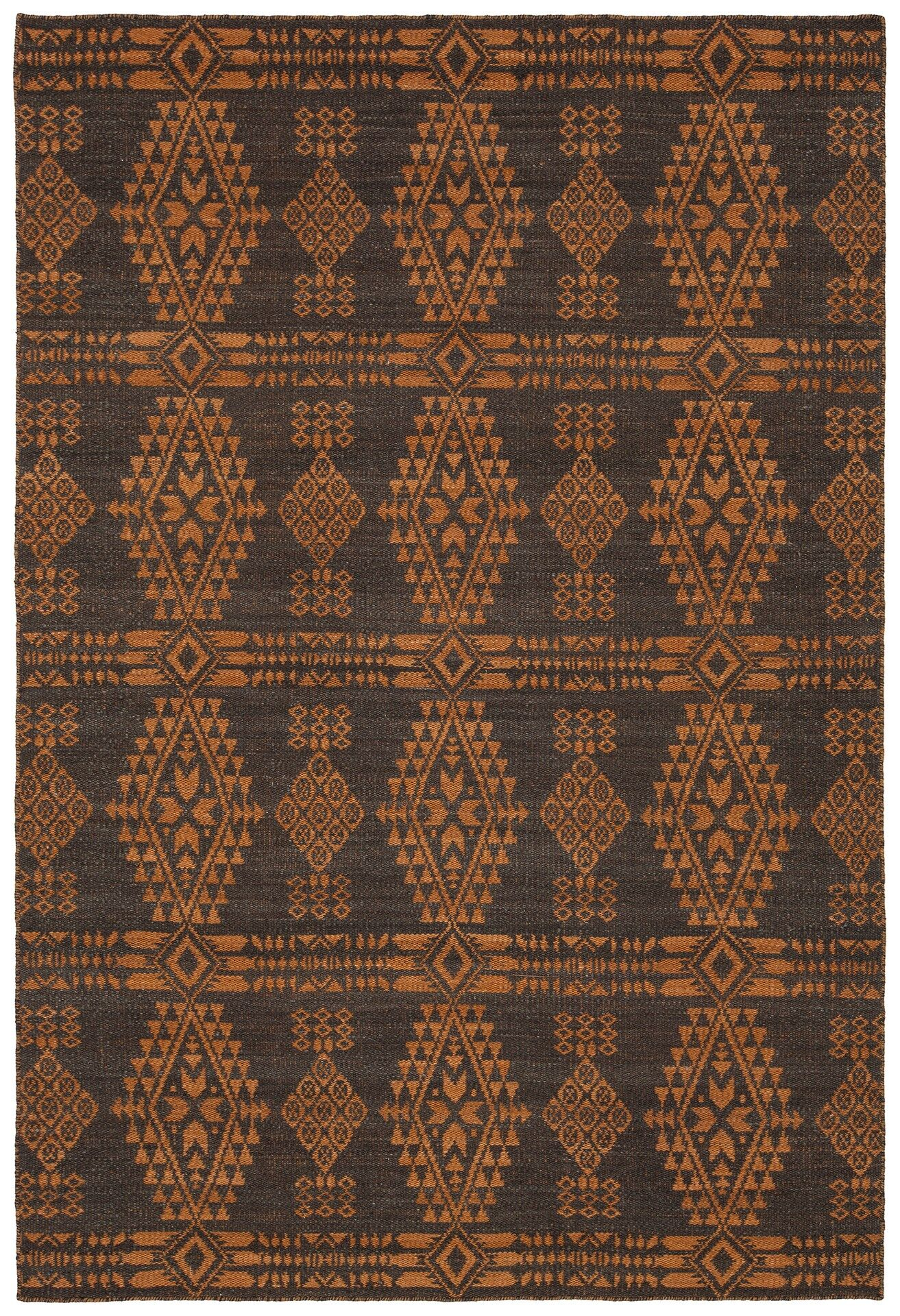 Daria Hand-Woven Wool Orange Area Rug Rug Size: Rectangle 7'9