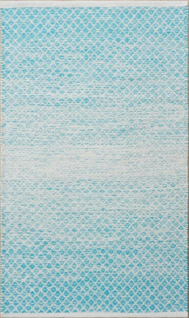 Parker Hand-Woven Blue/Gray Area Rug Rug Size: 5' x 7'6