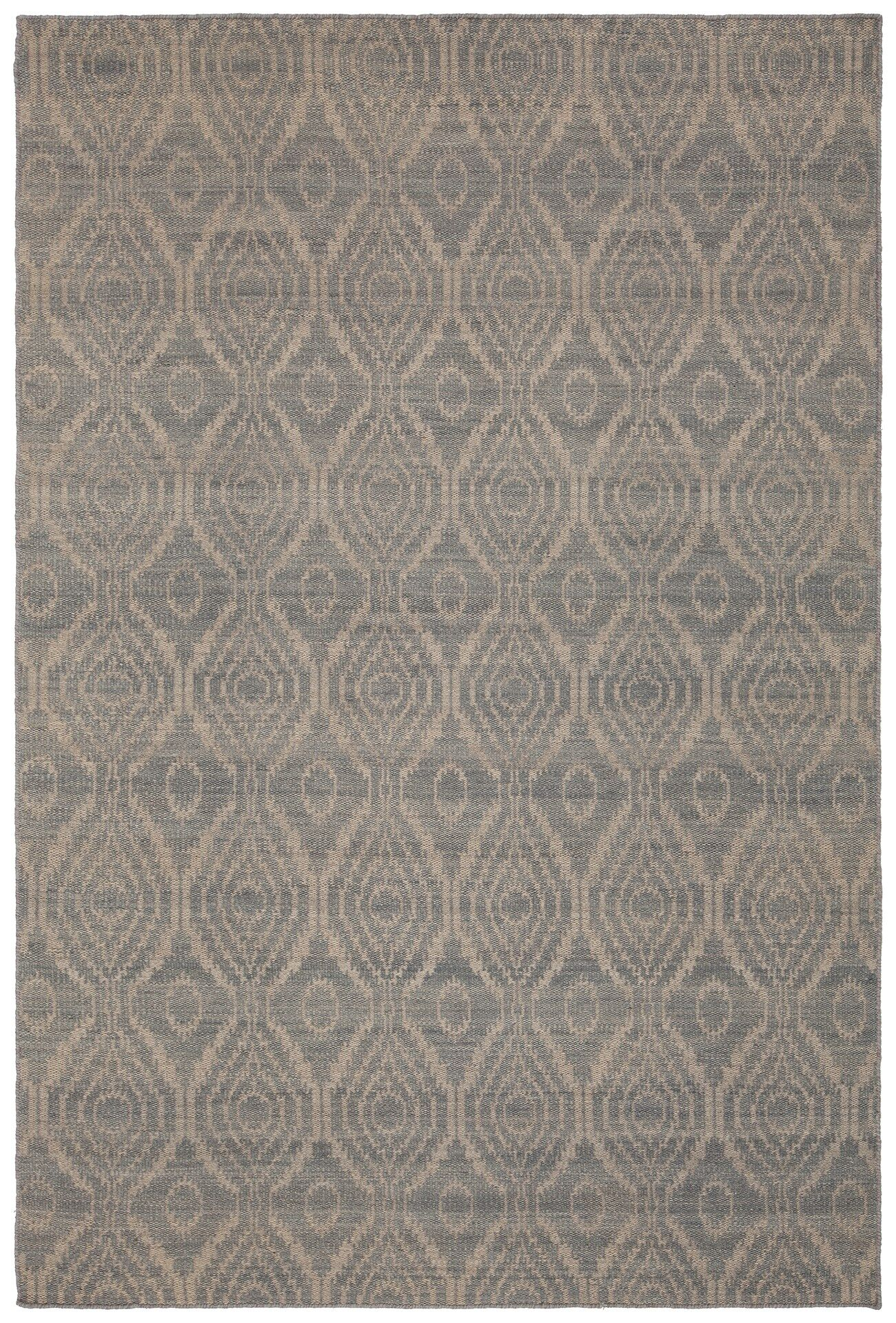 Jones Hand-Woven Wool Beige Area Rug Rug Size: Rectangle 7'9