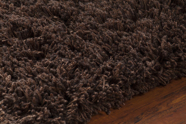 Issac Shag Dark Brown Area Rug Rug Size: Rectangle 5' x 7'6