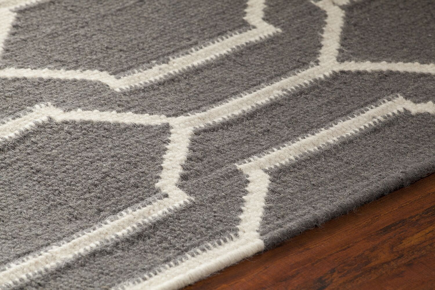 Centeno Patterned Gray/White Area Rug Rug Size: 5' x 7'6