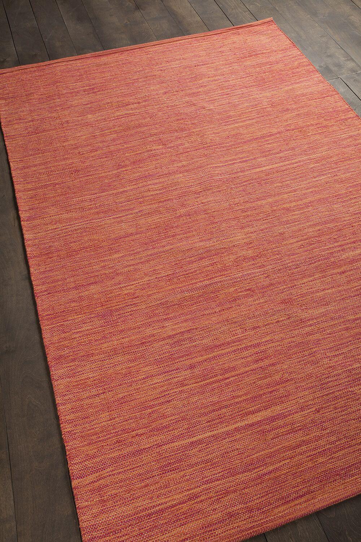 Elbeni Hand Woven Cotton Orange Area Rug Rug Size: 7'9