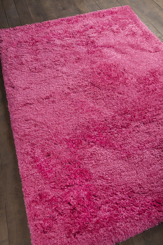 Garretson Hand-Woven Hot Pink Area Rug Rug Size: 7'9
