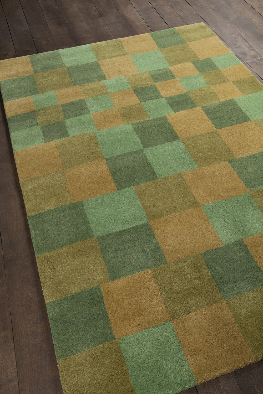 Jackeline Patterned Contemporary Wool Green/Gold Area Rug Rug Size: 5' x 7'6