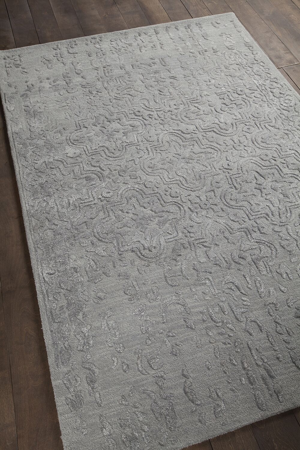 Boothby Hand-Tufted Gray Area Rug Rug Size: 5' x 7'6