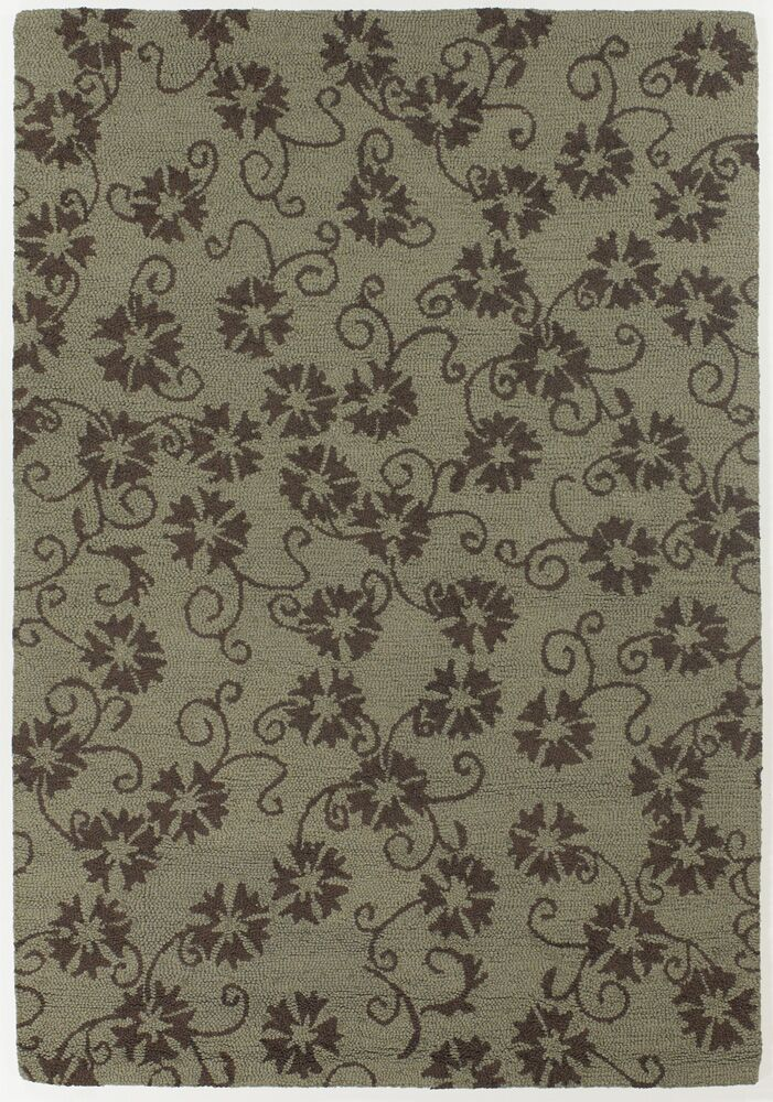 Duryea Brown/Mocha Floral Leaves Area Rug Rug Size: 5' x 7'6
