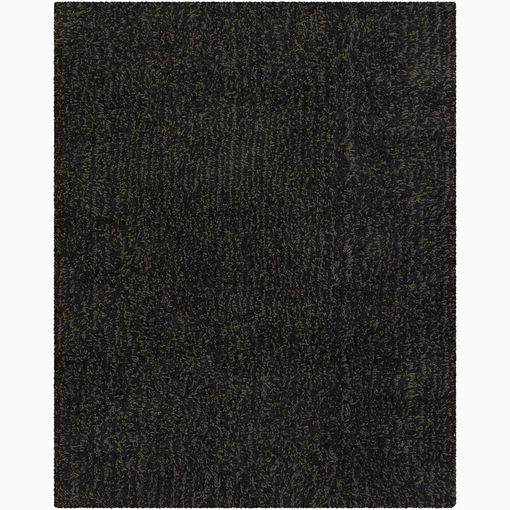 Sen Black Area Rug Rug Size: 2' x 3'