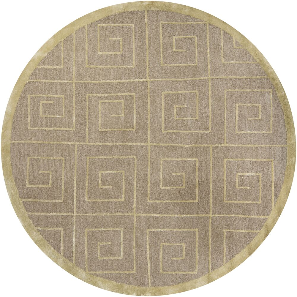 Havant Beige Area Rug Rug Size: Round 7'9
