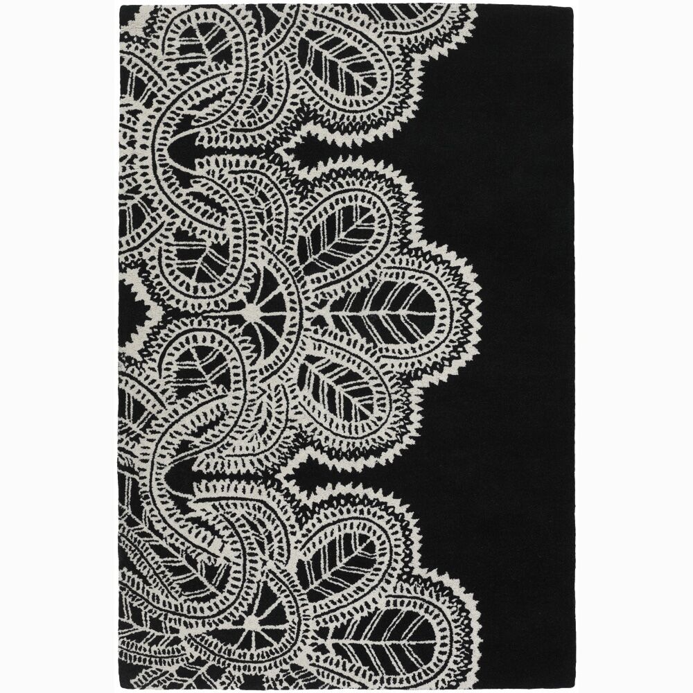 Areyanna Cactus Black/White Area Rug Rug Size: Rectangle 7'9