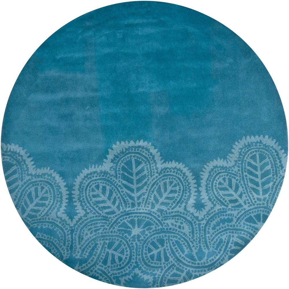 Areyanna Cactus Blue Area Rug Rug Size: Round 7'9