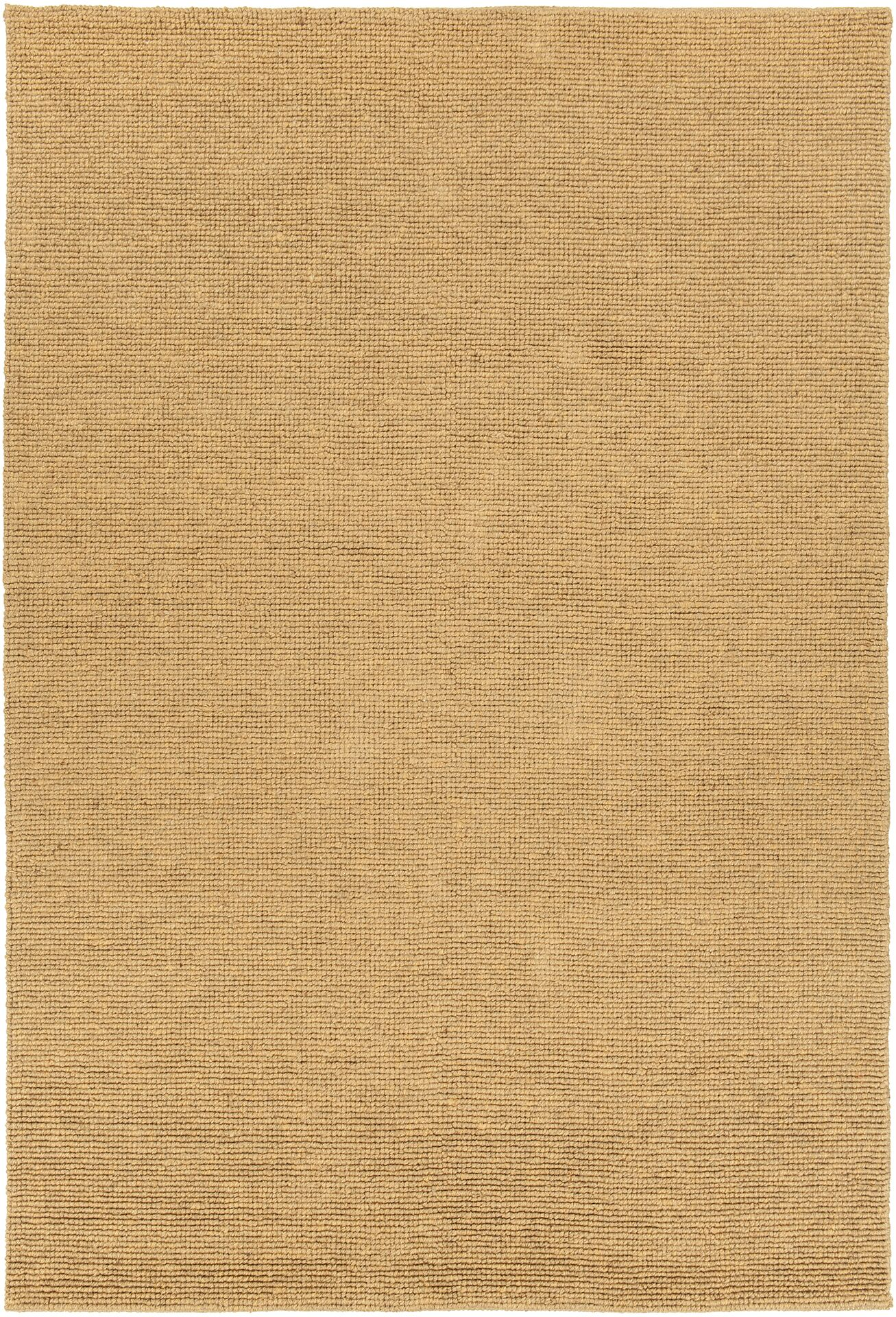 Amco Hand-Woven Gold Area Rug Rug Size: 7'9