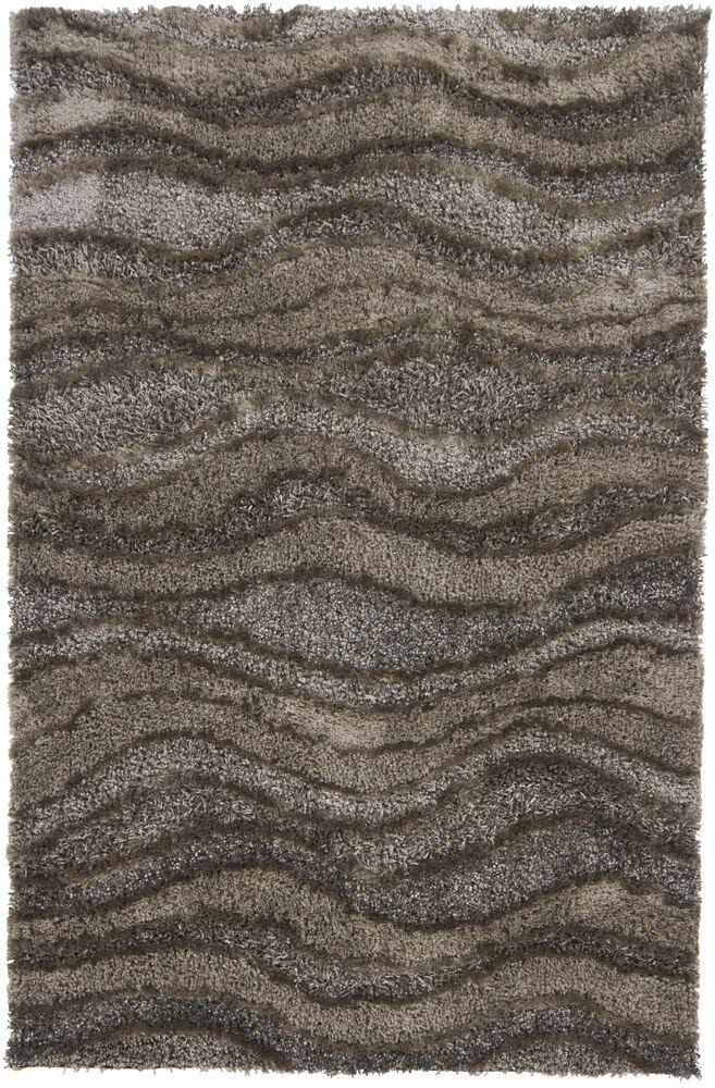 Taiquita Shag Brown/Tan Area Rug Rug Size: Rectangle 5' x 7'6