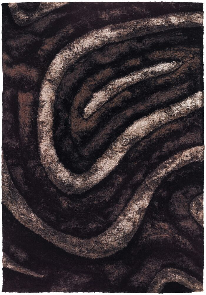 Shag Brown Area Rug Rug Size: 5' x 7'6