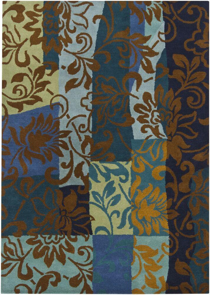 Geren Blue Area Rug Rug Size: 5' x 7'