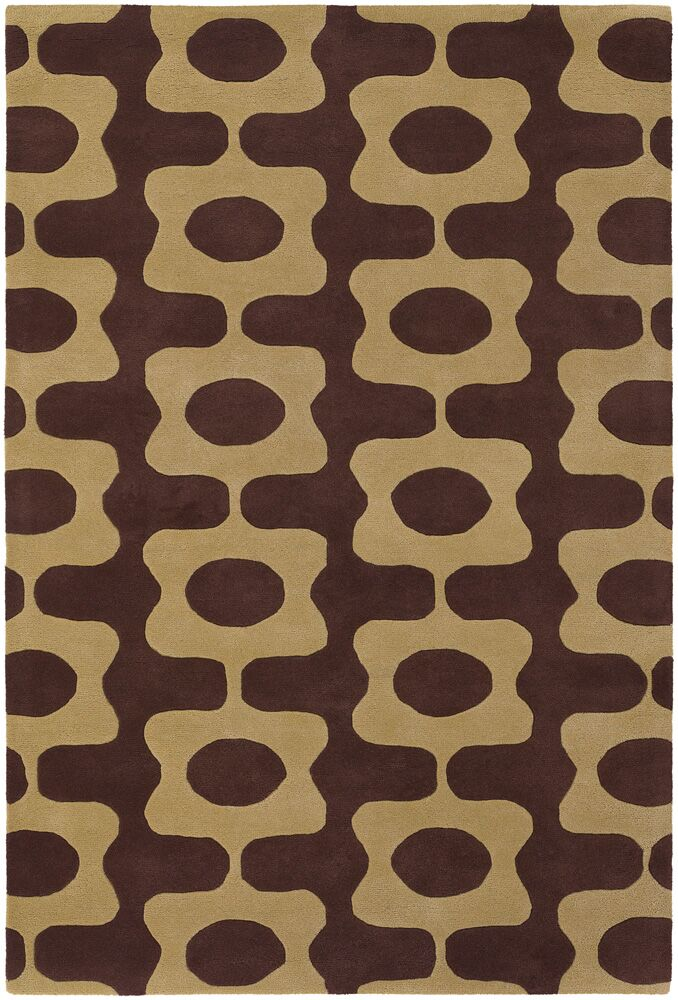 Vasques Brown/Tan Area Rug Rug Size: 7'9