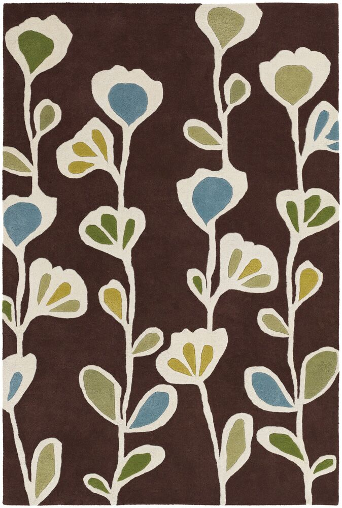 Cox Brown Area Rug Rug Size: 7'9