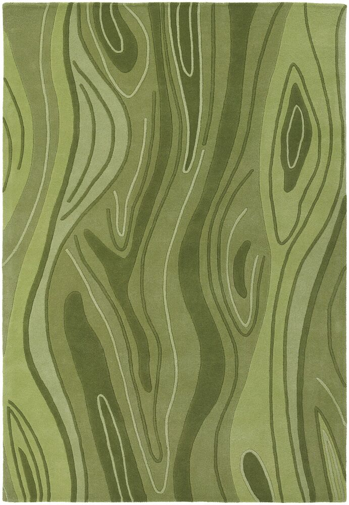 Yaning Olive Area Rug Rug Size: 5' x 7'6