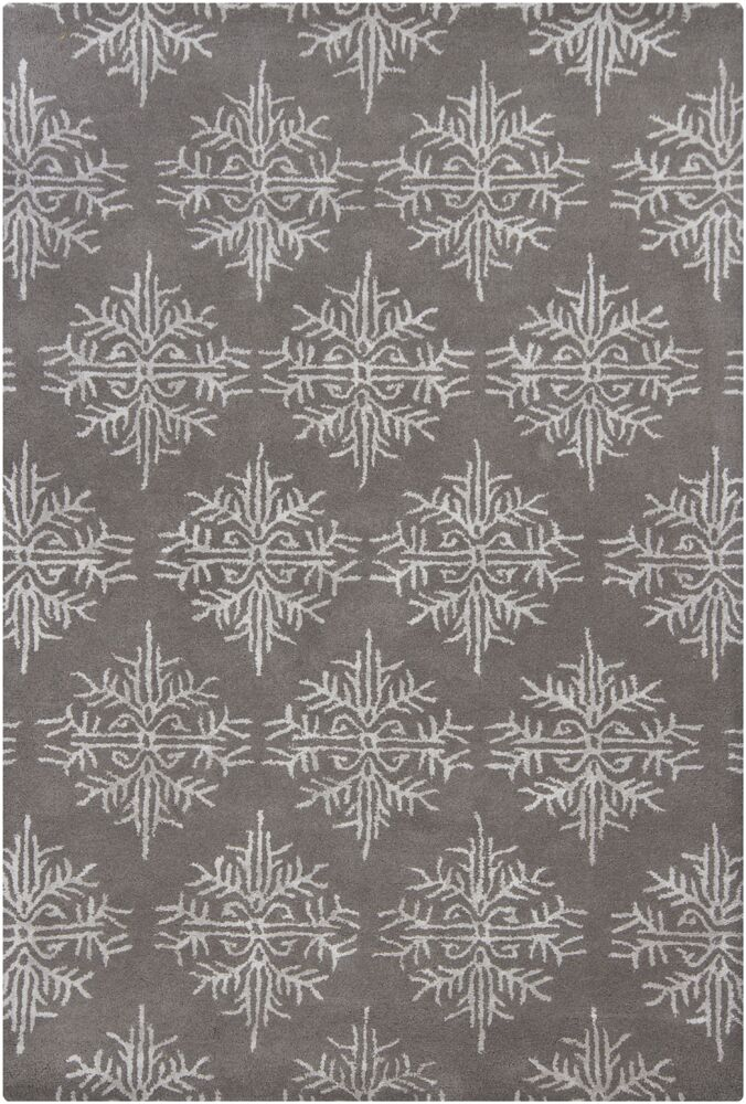 Donora White/Gray Area Rug Rug Size: 7'9