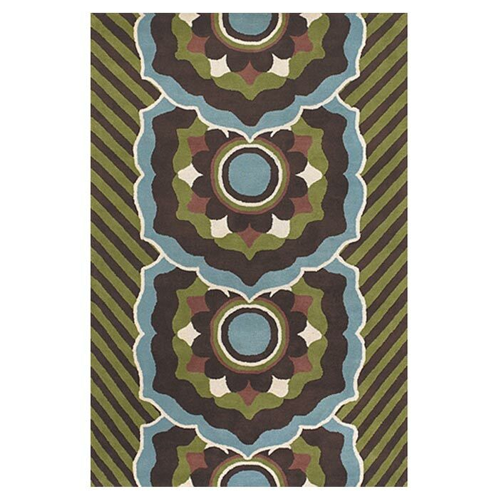 Green/Blue Area Rug Rug Size: Rectangle 5' x 7'6