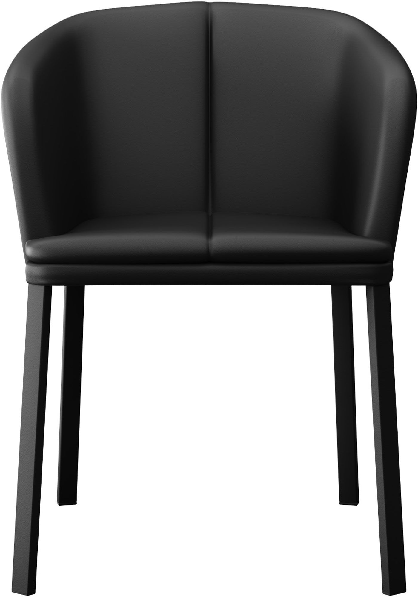 Como Genuine Leather Upholstered Dining Chair Finish: Black