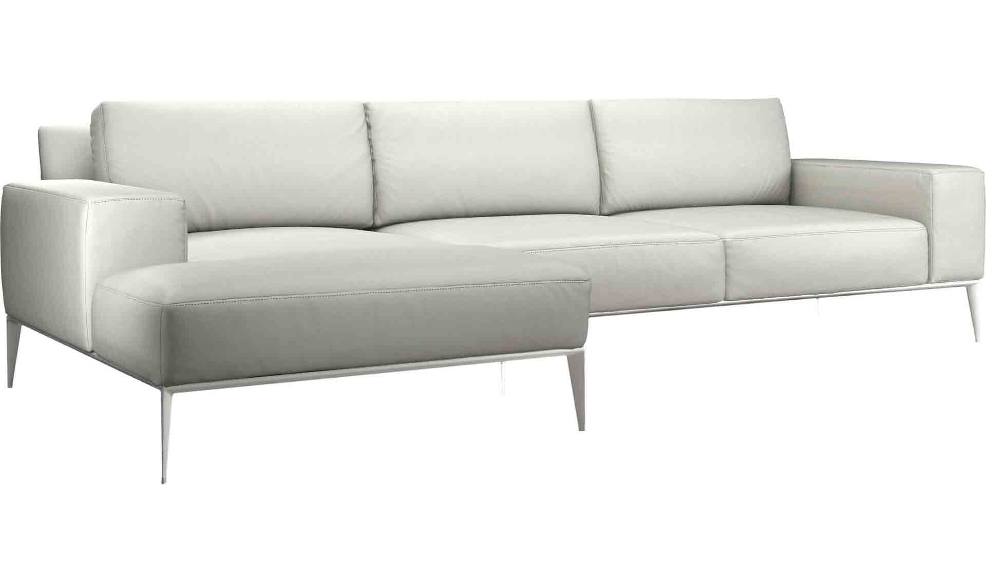 Elizabeth Leather Sectional Upholstery: Soft Snow, Orientation: Right Hand Facing