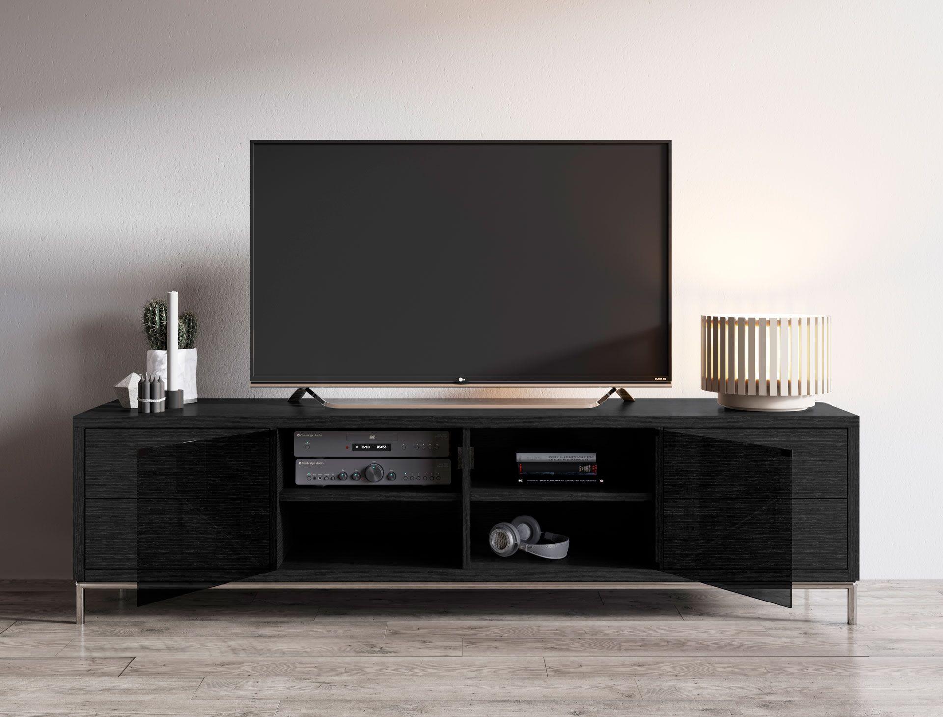 Multimedia Cabinet Color: Gray Oak