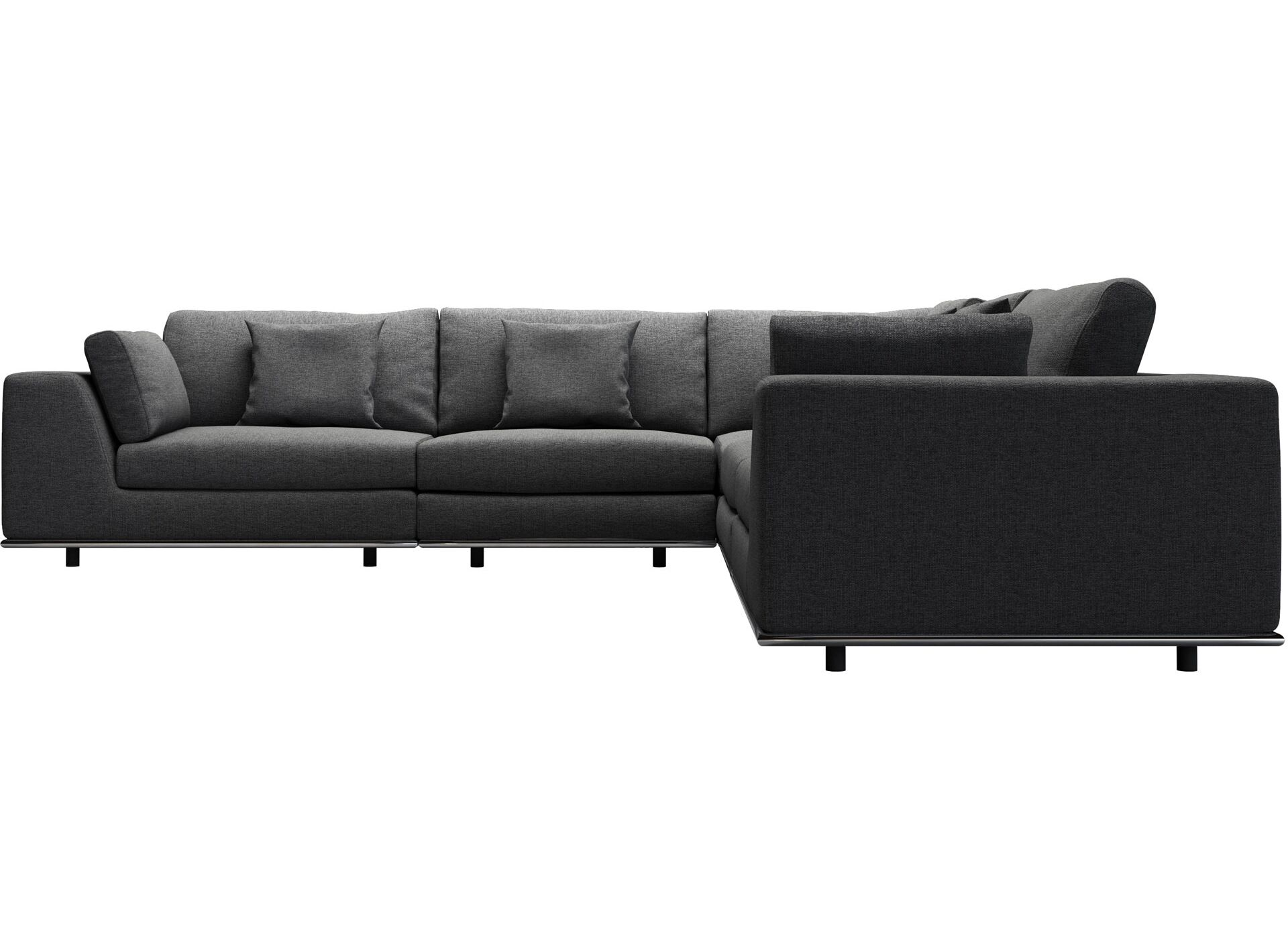 Perry Modular Sectional Upholstery: Shadow Gray Fabric
