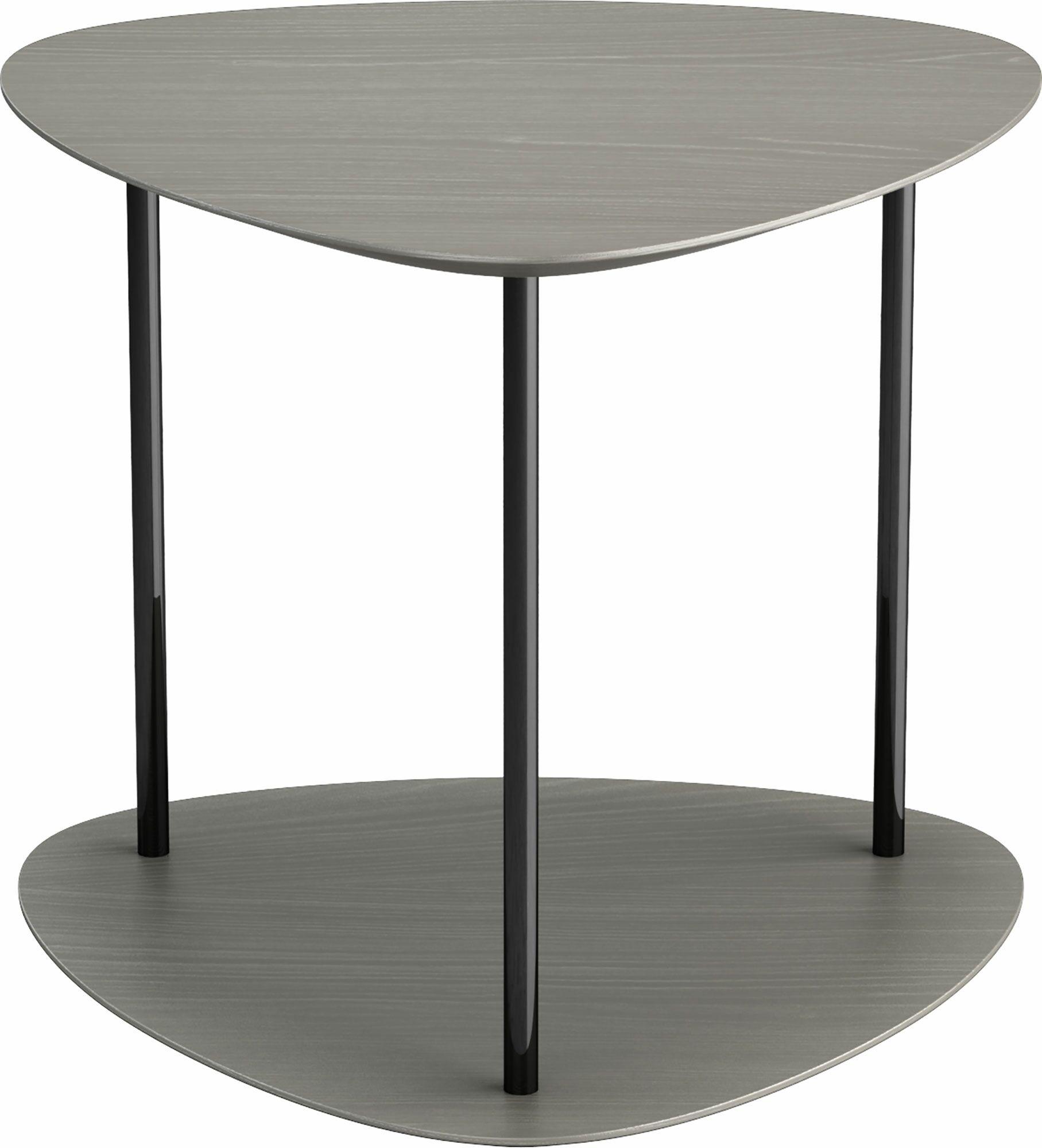 Finsbury End Table Color: Acier and Black Chrome