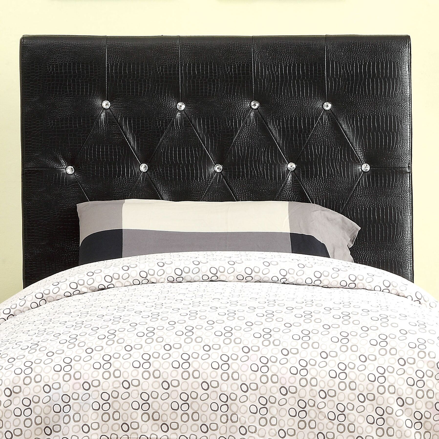 Sarina Upholstered Panel Headboard Size: Full/Queen, Upholstery: Brown