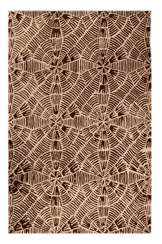 Maze Beige/Brown Rug Rug Size: 7'10
