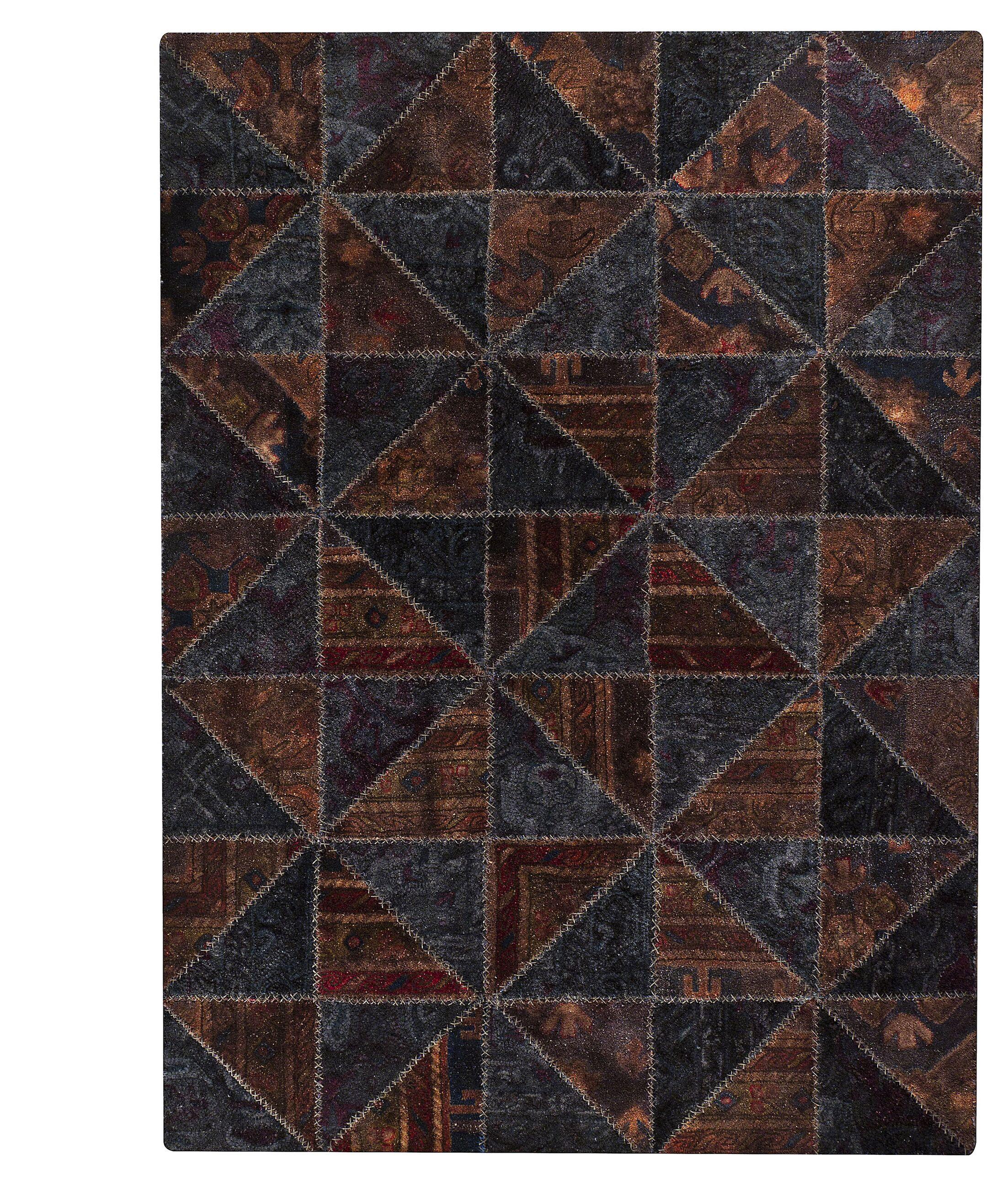 Tile Viviana Black / Brown Area Rug Rug Size: 5'2