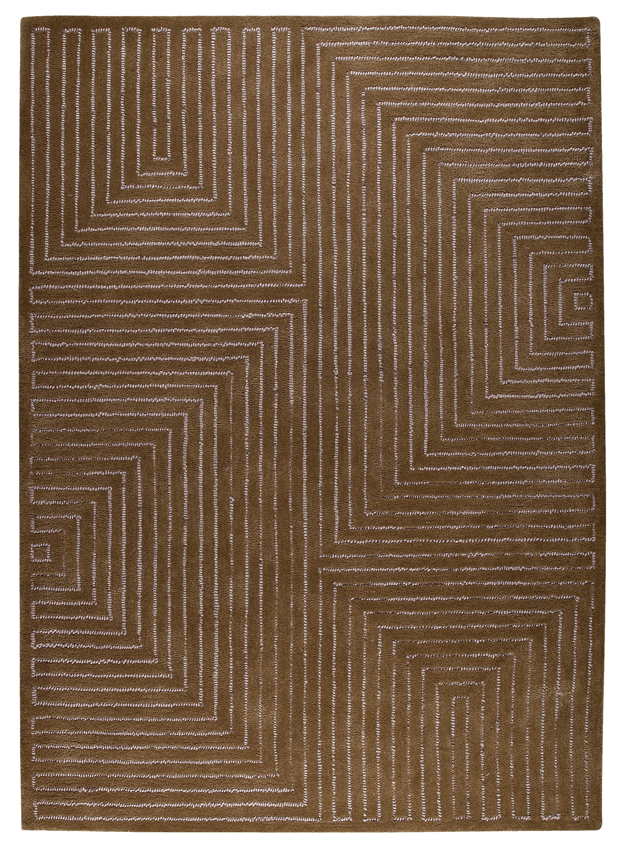 Dalley Hand-Tufted Grey/Brown Area Rug Rug Size: Rectangle 8'3