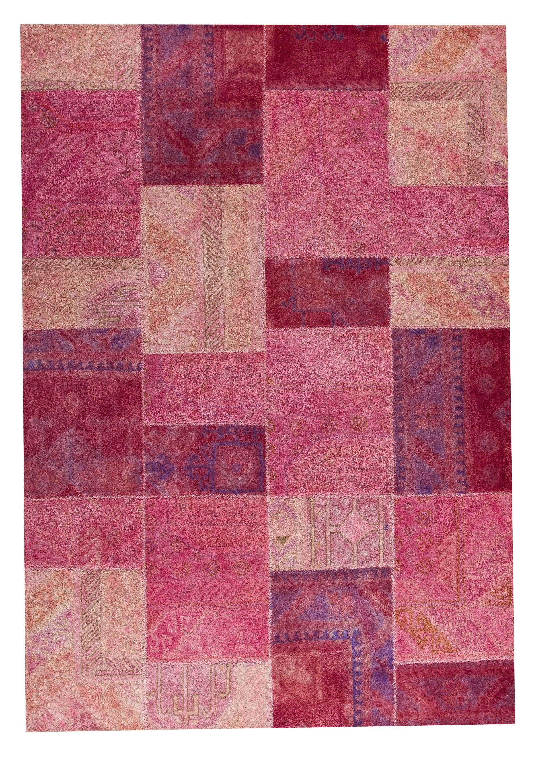 Satinath Light Pink Area Rug Rug Size: 5'2