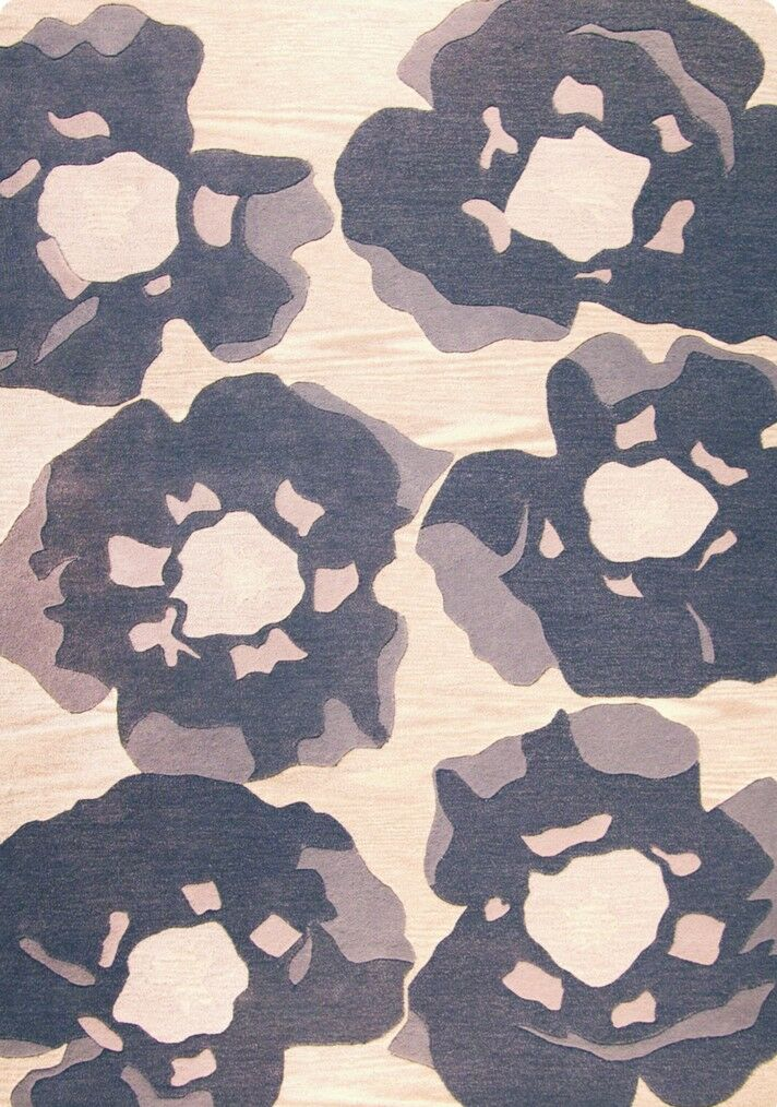 Alberta Hand-Tufted Grey Area Rug Rug Size: Rectangle 8'3