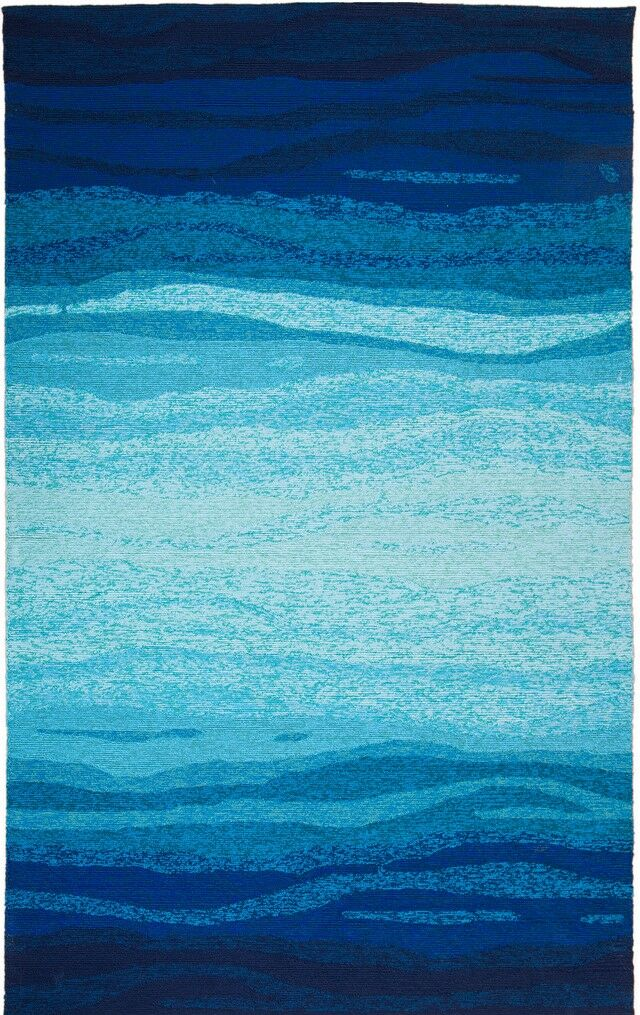 Vista Hand-Tufted Blue/Turquoise Indoor/Outdoor Area Rug Rug Size: 8' x 10'